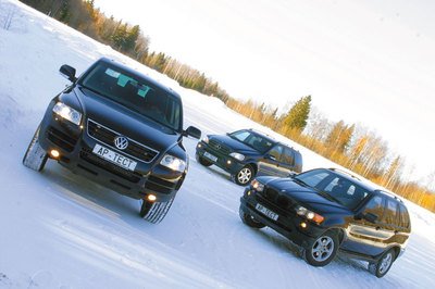 Тест драйв автомобилей: BMW X5 3.0, Mercedes ML 320 и Volkswagen Touareg