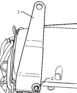 Транспортировочная проушина в передней части левой ГБЦ