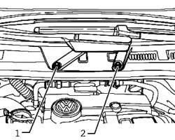 Крепежные гайки поводка стеклоочистителя и кривошипа