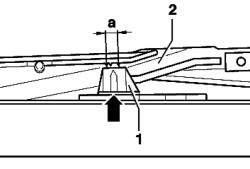 Маркировка для установки люка в исходное положение