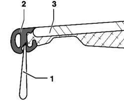 Подгонка уплотнителя панели люка