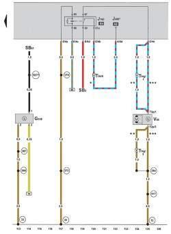 Электросхема климатической установки Climatronic 2-C (устанавливается с 05.2005) 8