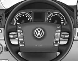 Местонахождение надувной подушки для водителя: в рулевом колесе