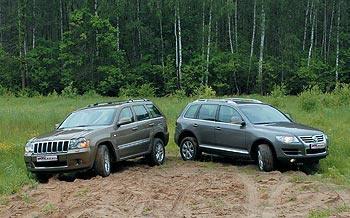 Тест драйв автомобилей: Jeep Grand Cherokee и VW Touareg