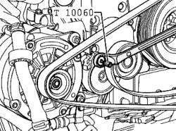 Фиксация ремня привода вспомогательных агрегатов
