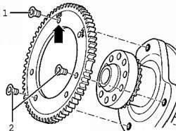 Шестерня датчика оборотов двигателя