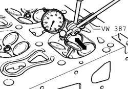 Измерение люфта клапана