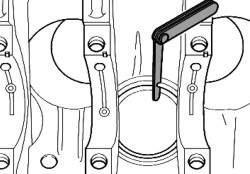 Проверка теплового зазора поршневых колец