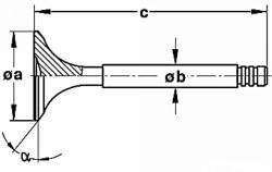 Размеры впускного клапана