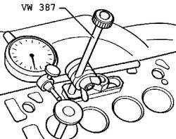 Проверка направляющей втулки клапана