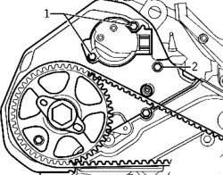 Болты крепления датчика и задней крышки зубчатого ремня