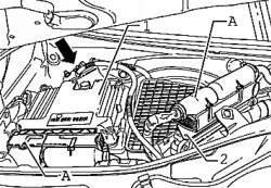 Малый штекер блока управления двигателя