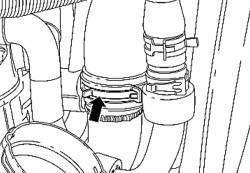 Хомут соединительной трубки воздушного фильтра первого и второго ряда цилиндров
