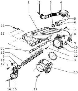 Детали впускного коллектора