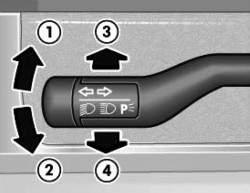Подрулевой переключатель света фар и указателей поворота