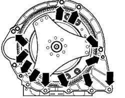 Болты крепления коробки передач к двигателю