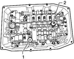 Снятие и установка датчика давления для гидросистемы 1 в АКП G193 и датчика давления для гидросистемы 2 в АКП G194