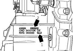 Буквенные обозначения раздаточной коробки