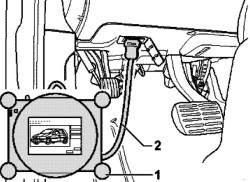 Расположение маркировки на передней главной передаче