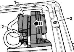 Штекерые соединения блока управления раздаточной коробки