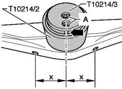 Установка новой резинометаллической опоры на кронштейн