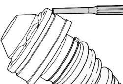Снятие крышки внутреннего шарнира