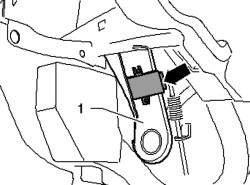 Снятие блока управления системы контроля давления в шинах J502