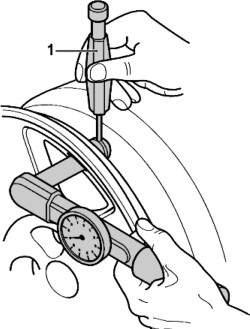Снятие металлического вентиля