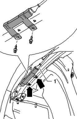 Снятие антенны переднего контрольного индикатора давления