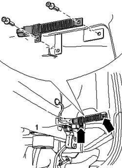 Снятие антенны заднего контрольного индикатора давления