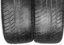 Пример бокового износа шин