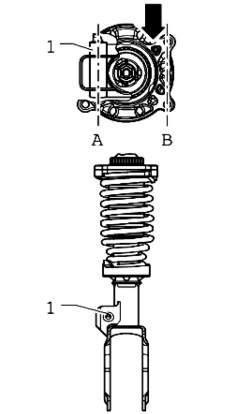 Схема установки пружины