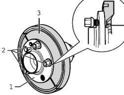 Схема установки колесных болтов
