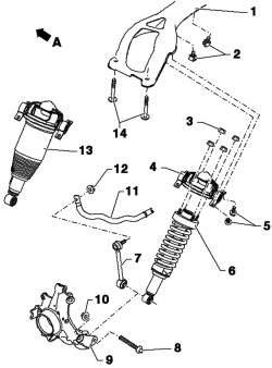 Компоненты подвески задних колес