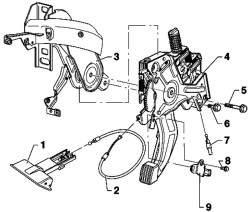 Рычаг педального стояночного тормоза