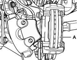 Установка наружной тормозной колодки