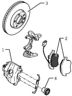 Тормоз заднего колеса (дисковый тормоз 16'')