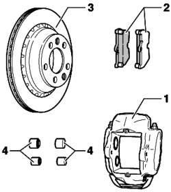 Тормоза задних колес (дисковые тормоза 17'')