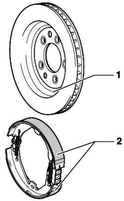 Стояночный тормоз (барабанный тормоз 16'')