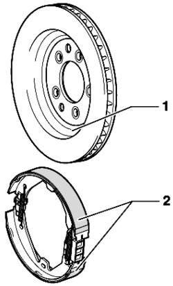 Стояночный тормоз (барабанный тормоз 17'')